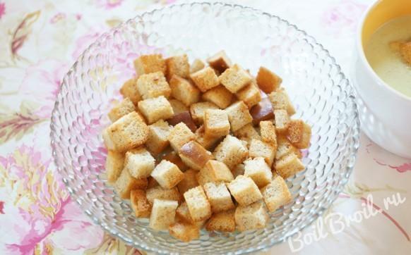 Вкусные гренки из белого хлеба в духовке