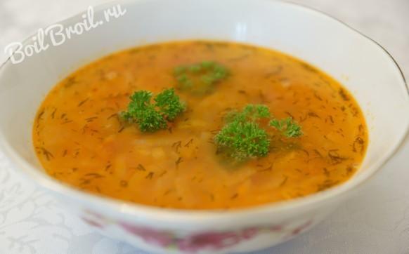 Вкусный суп из чечевицы без мяса