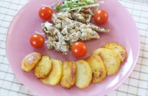 Жареный картофель из варёного
