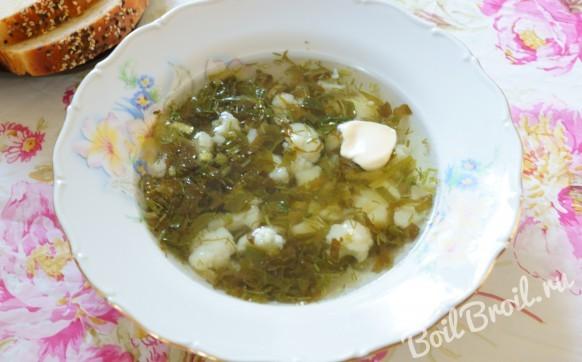 Суп из цветной капусты и зелени