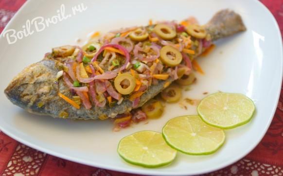 Эскабече  из рыбы