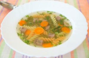 Суп из стручковой фасоли с мясом