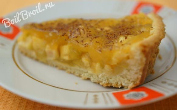 Яблочный пирог с нежной заливкой