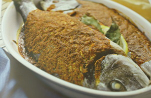 Запеченная рыба дорадо