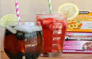 Холодный чай с ягодами