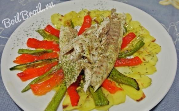 Рыба запеченная в духовке в фольге с овощами