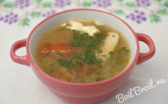 Щавелевый суп на бульоне