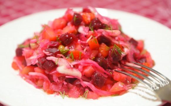 Винегрет со свежей капустой