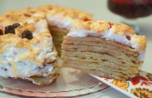 Как приготовить блинный торт в домашних условиях