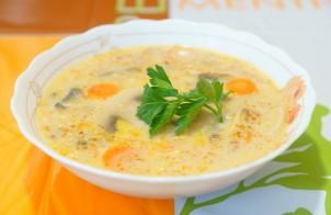 Суп-лапша с грибами