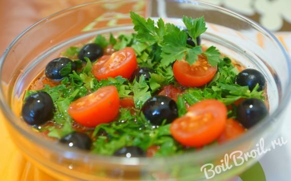 Греческий салат из помидоров