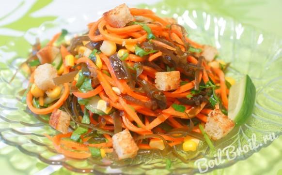 Салат с корейской морковью и огурцом