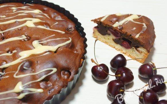 Заливной пирог с вишней