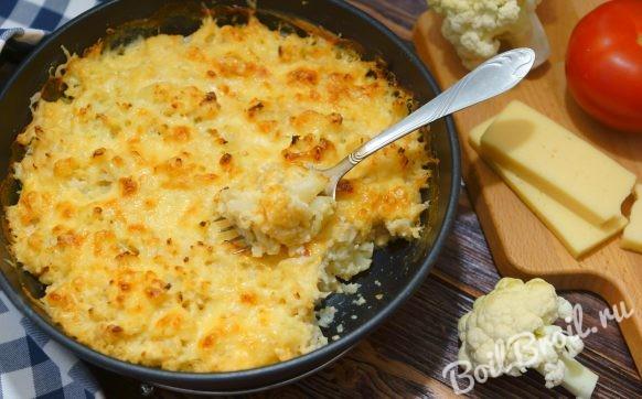 Цветная капуста запеченная в духовке с сыром