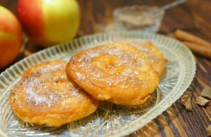 Пончики с яблоками