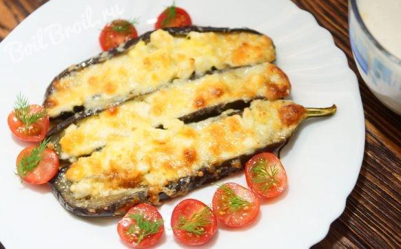 Баклажаны запеченные в духовке с сыром