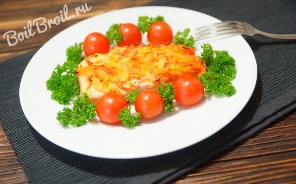 Горбуша в духовке с луком и морковью
