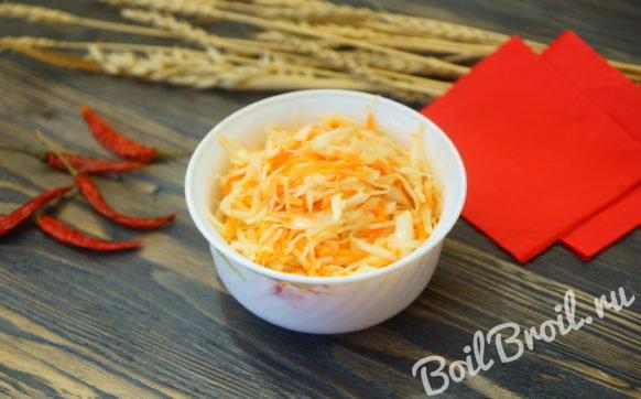 Капуста по корейски с морковью