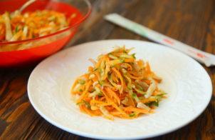 Корейская морковь с кальмарами