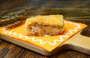 Пирог с минтаем и картошкой
