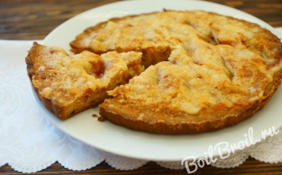 Пирог на сметане с вареньем в духовке