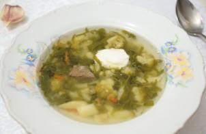 Суп из шпината и брокколи