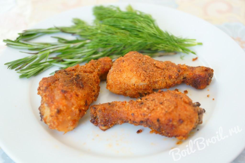 Куриные крылышки в панировке  пошаговый рецепт с фото на