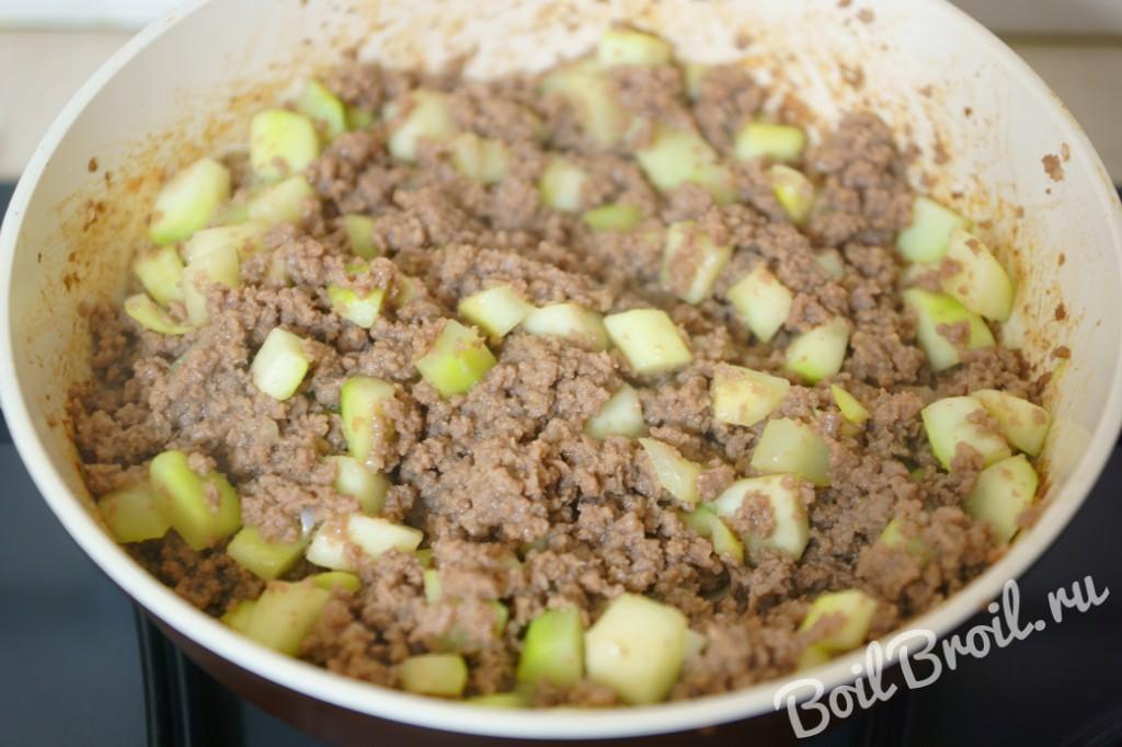 Кабачки фаршированные мясным фаршем в духовке рецепт с фото