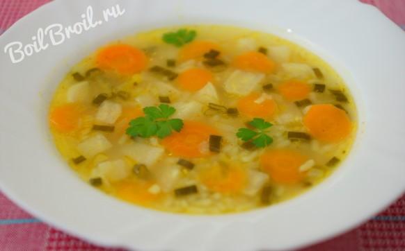 Суп рисовый с овощами