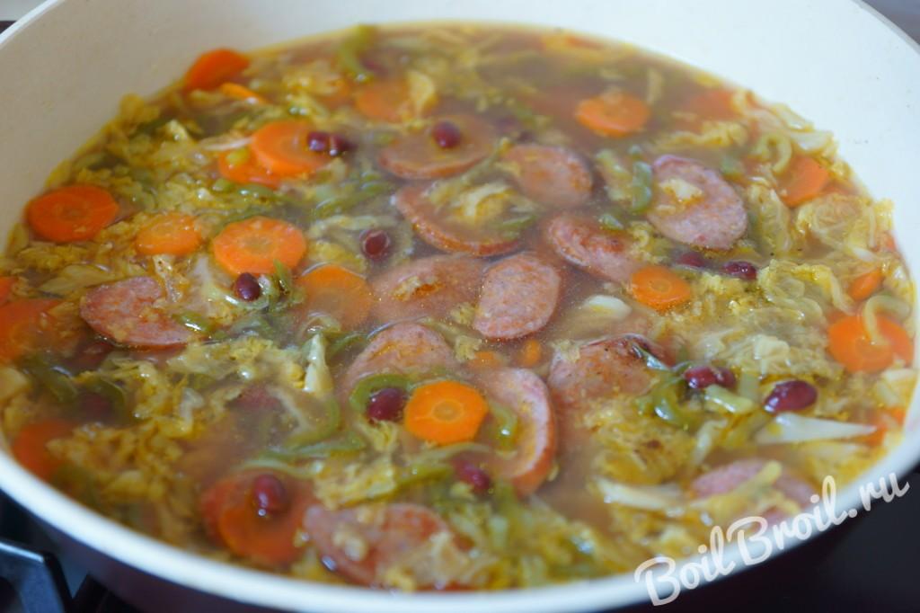 Суп фасолевый с копченостями пошаговый рецепт
