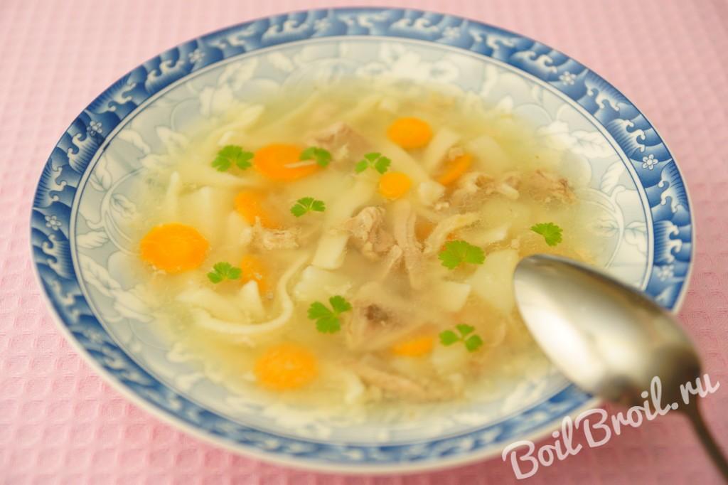 Рецепт куриного супа с вермишелью с пошагово