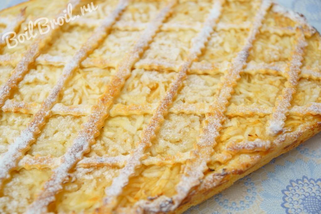 Пирог не дрожжевой с яблоками рецепт с