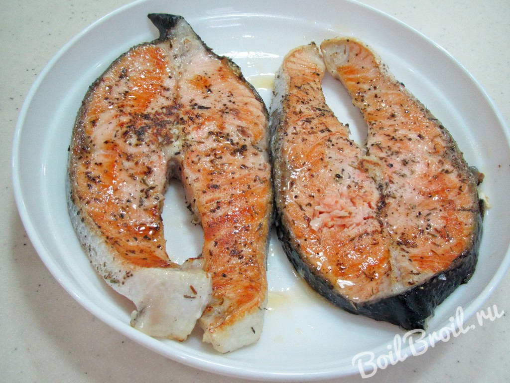 красная рыба жареная на сковороде рецепт с фото