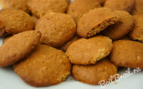 Печенье из овсяных хлопьев с медом