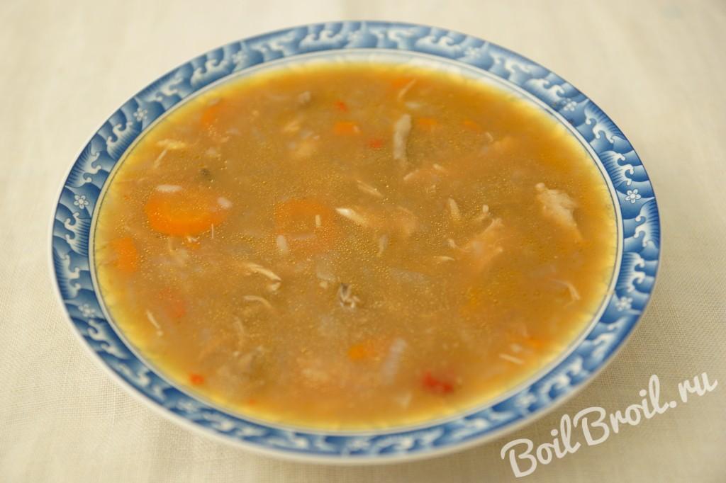 Суп куриный с рисом рецепт с пошагово