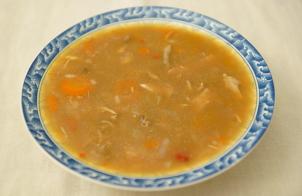Суп куриный с рисом