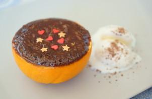 Шоколадно-апельсиновый десерт