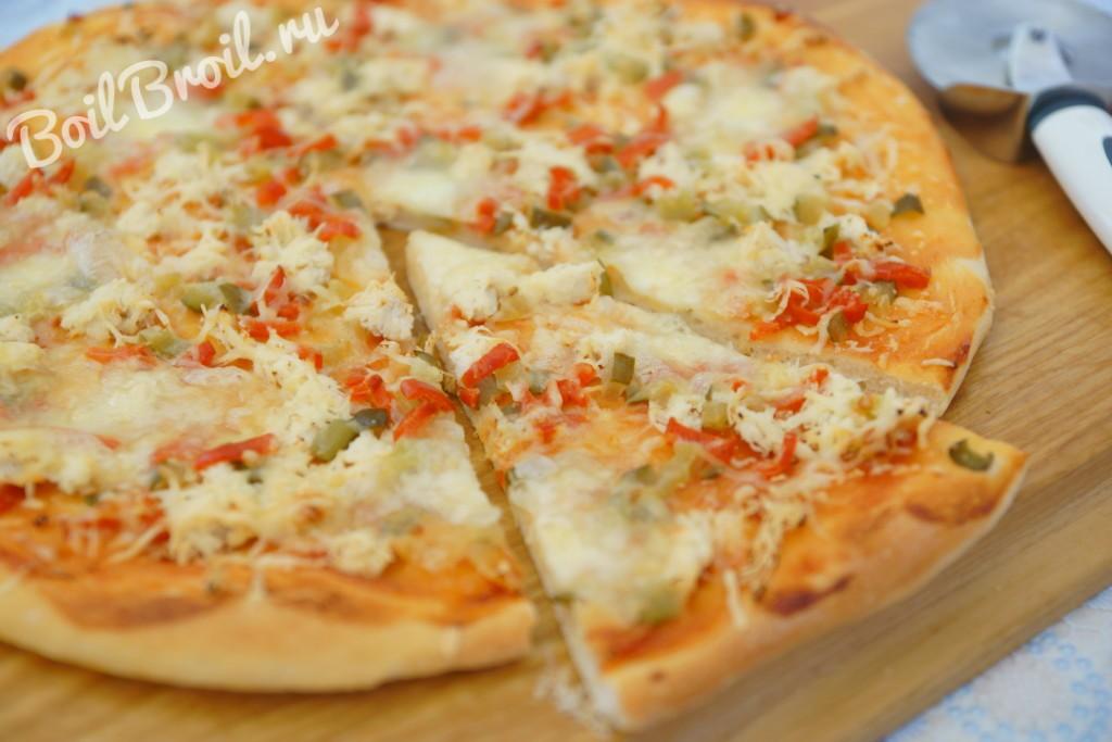 рецепт пиццы в духовке с сыром