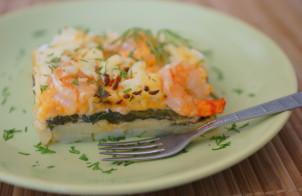 Картофельная запеканка с шпинатом