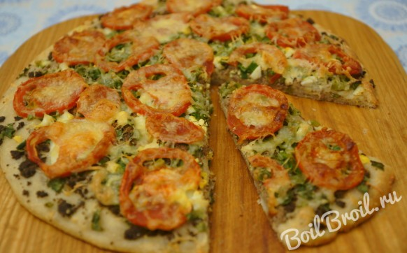 Пицца с печенью