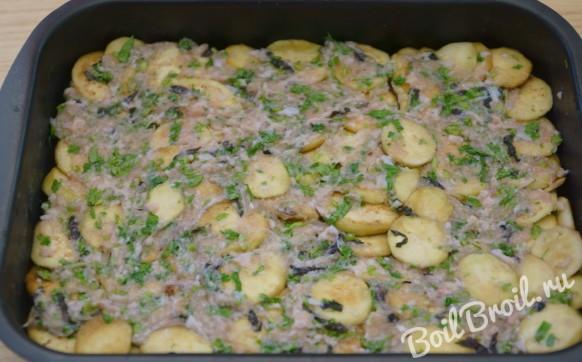 Кабачки баклажаны картофель фарш рецепт