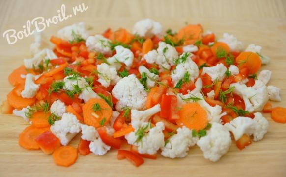 Овощи для заправки замороженные
