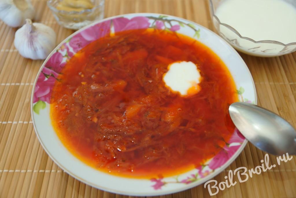 Щи без томатной пасты рецепт пошагово