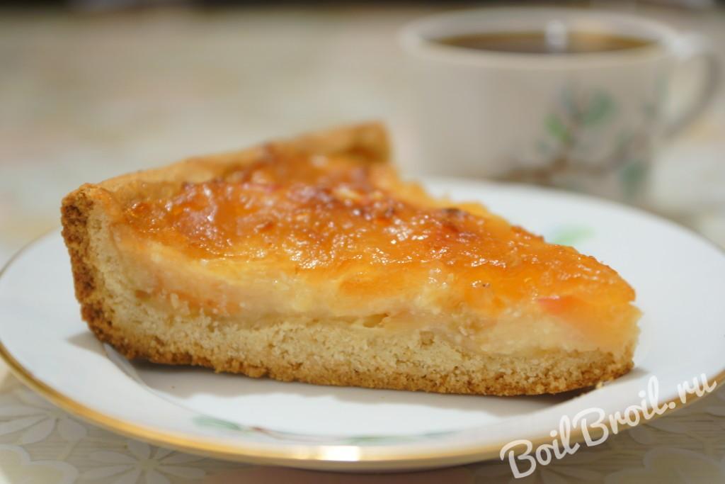 Пирог на молоке с творогом рецепт