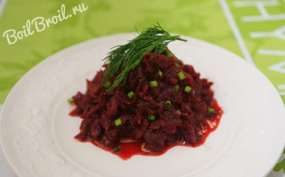 Салат из свеклы с луком