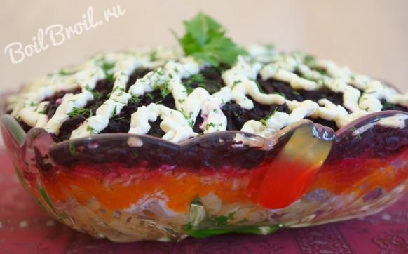 Что ложат в салат селёдка под шубой