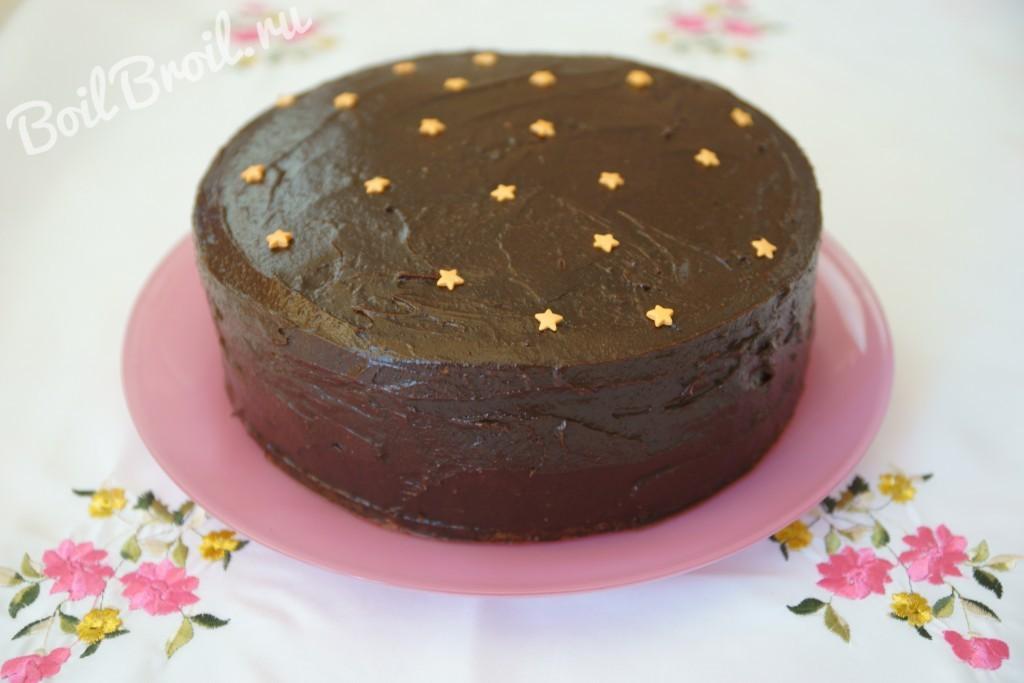Как сделать торт из сметаны и какао