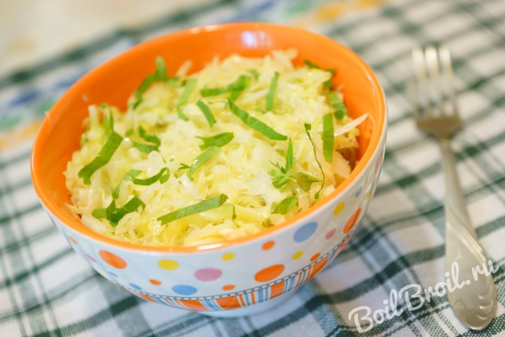 Как сделать салат из капусты быстро