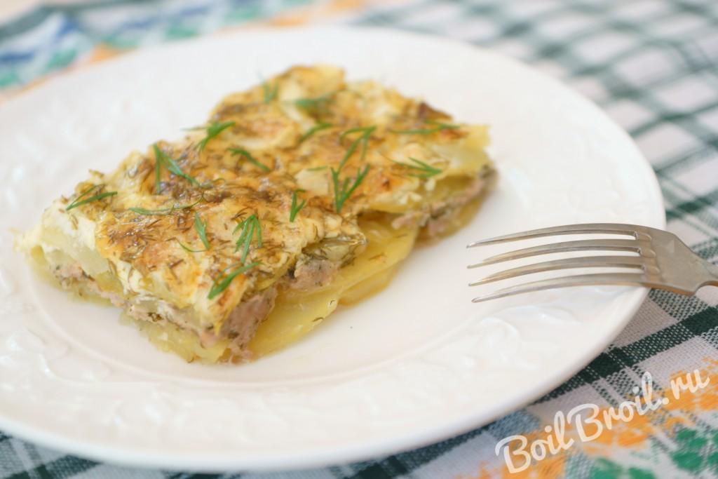 Рецепт запеканки с картофелем с фаршем в духовке рецепт
