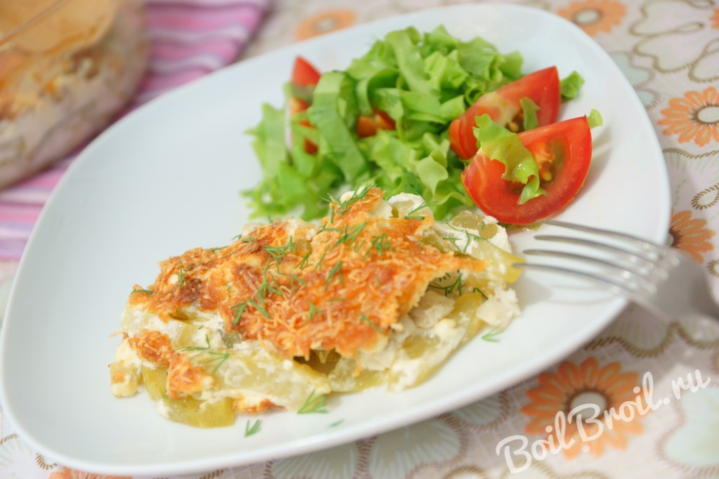 Рыба с кабачками в духовке рецепты с фото